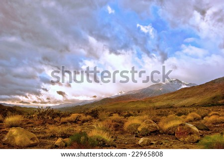 Beautiful Landscape Image of the desert In Palm Springs,California - stock photo