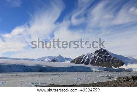 Beautiful landscape in Antarctica, very remote area. - stock photo