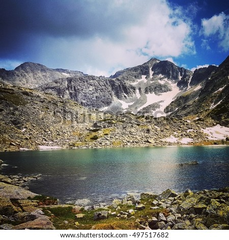 Beautiful landscape in Rila Mountains Bulgaria