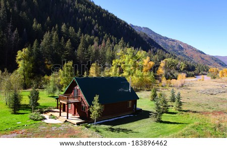 Beautiful landscape of Colorado in early autumn time - stock photo