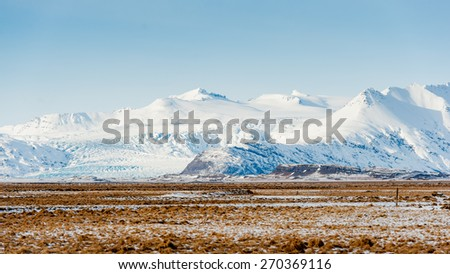 Beautiful landscape of  mountain and glacier  at Iceland - stock photo