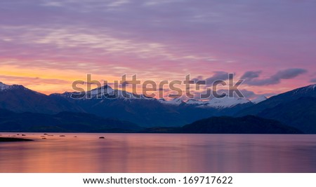Beautiful landscape of South island, New Zealand. - stock photo