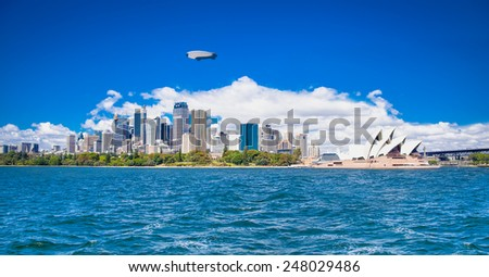 Beautiful landscape of Sydney city in suny day. Australia. - stock photo