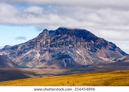 Beautiful landscape of the Cotopaxi National Park, Ecuador - stock photo