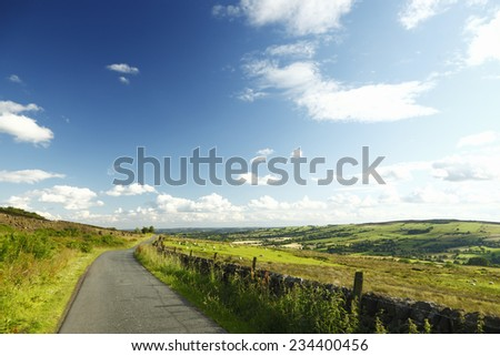 Beautiful landscape of the Peak District, UK - stock photo