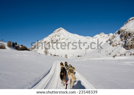 Beautiful landscape showing mountains in the swiss alps - stock photo