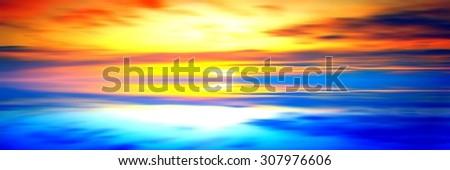 Beautiful landscape with birds - stock photo