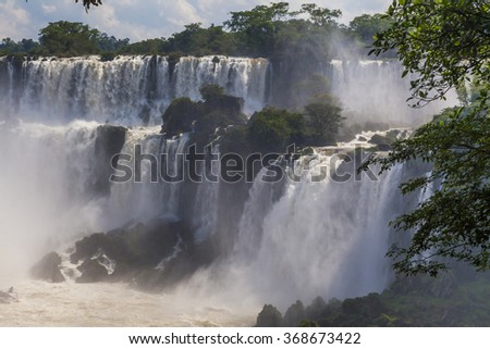 Beautiful landscape with views of the Iguazu Falls. Argentina.