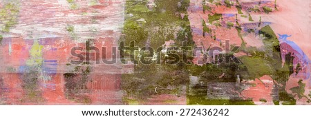 Beautiful large scale Abstract mixed media painting on Canvas - stock photo