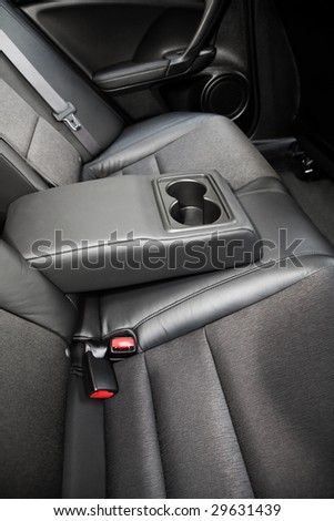 Beautiful leather interior of the modern car