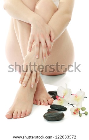 Beautiful legs and feet - stock photo