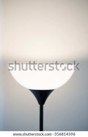 beautiful light on the wall from a lamp creating a nice background