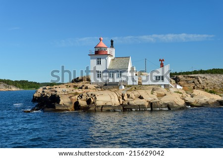 Beautiful lighthouse. Collection of the best lighthouses. Norway