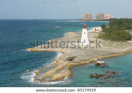 Beautiful lighthouse in the Bahamas