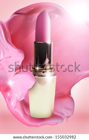 Beautiful lipstick  - stock photo