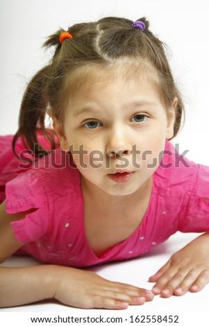 beautiful little girl  - stock photo