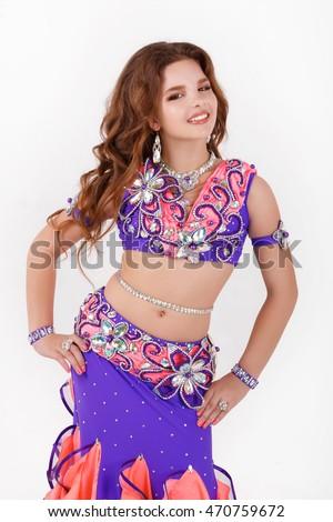 Dancing girls belly
