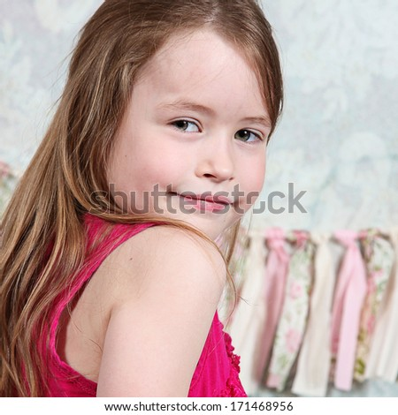 Beautiful Little girl in studio