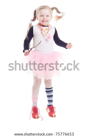beautiful little girl in the image of Pippi Longstocking
