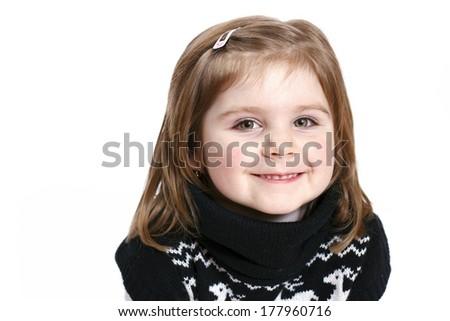 Beautiful little girl smiling - stock photo