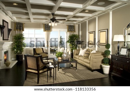 Beautiful Living Room beautiful living room architecture stock images stock photo