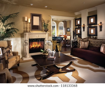 beautiful living room architecture stock images stock photo 118133368 shutterstock. Black Bedroom Furniture Sets. Home Design Ideas