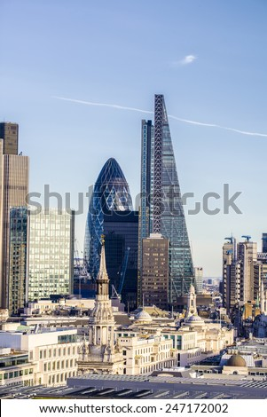 Beautiful london skyline. - stock photo