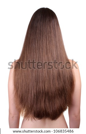 Beautiful long hair - stock photo