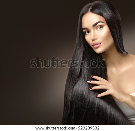 Amazing Straight Hair Stock Images Royalty Free Images Vectors Hairstyle Inspiration Daily Dogsangcom