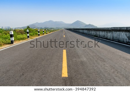 Beautiful long way road