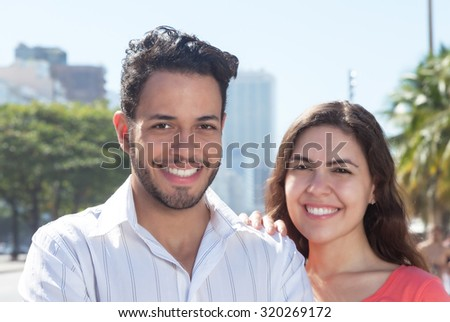 Beautiful love couple in the city