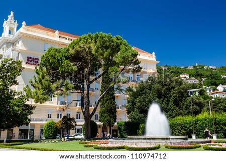 Beautiful Luxury Hotel in Optija, Croatia - stock photo