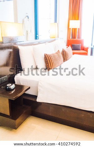 Stock images royalty free images vectors shutterstock for Beautiful bed decoration