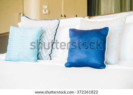 Newborn baby sleeping on big bed stock photo 409746097 for Beautiful bed decoration