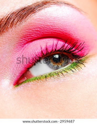 beautiful make up and bright colorer of eye
