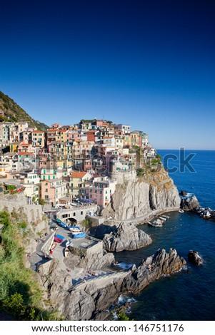 Beautiful Manarola, Cinque Terre, Italy - stock photo