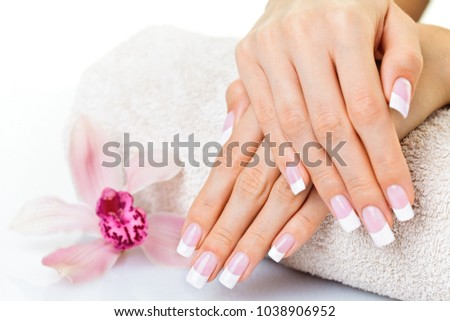 Beautiful manicured hands