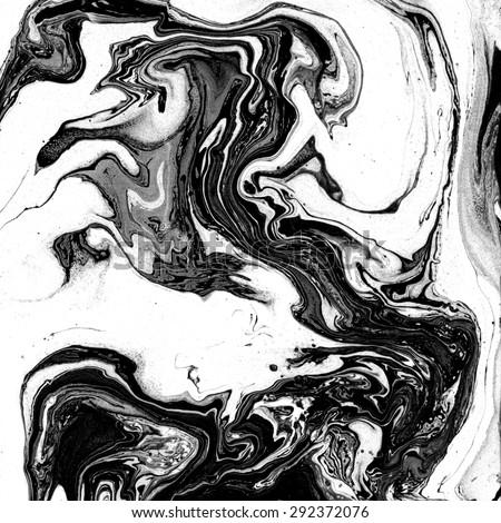 Beautiful marble texture. Black and white background. Handmade surface. Abstract art. Watercolour stains. Unusual art technique. Artistic design. Creative backdrop. - stock photo