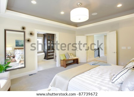 Beautiful Master Bedroom in Luxury Home