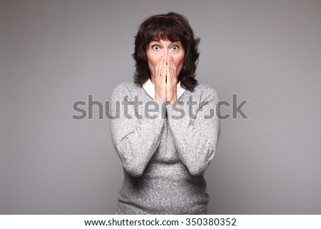Beautiful mature woman - stock photo