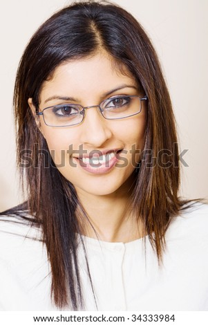 beautiful middle eastern woman portrait - stock photo