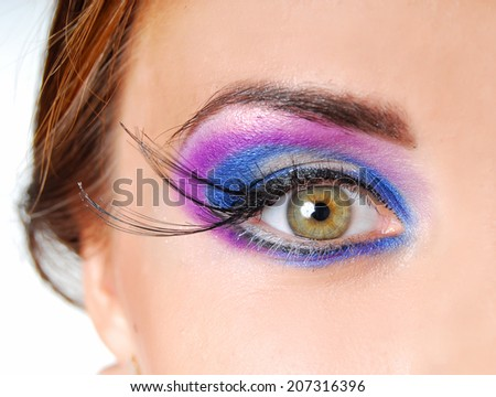 Beautiful model with colorful make-up