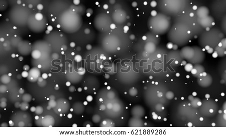 Beautiful monochrome bokeh blurred background defocused lights