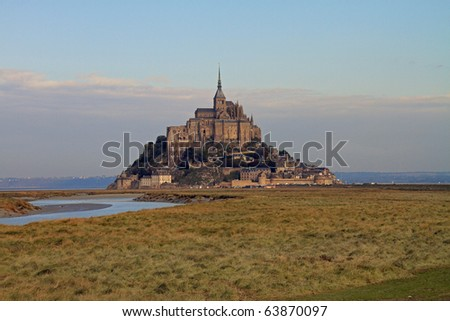 Beautiful Mont Saint Michel in Brittany, France