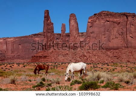Beautiful Monument Valley Landscape - stock photo