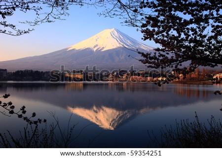 Beautiful Mount Fuji, japan - stock photo