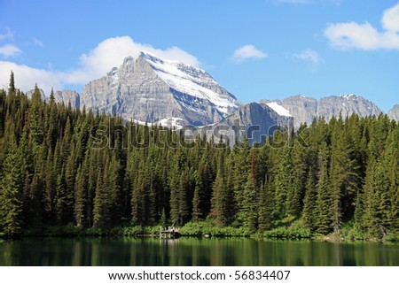 Beautiful Mount Gould in Glacier National Park in Montana