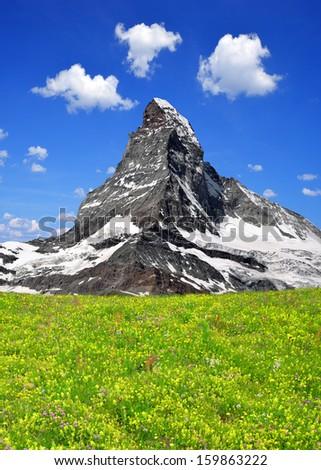 Beautiful mount Matterhorn - Swiss alps  - stock photo