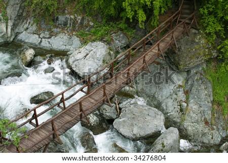 Beautiful mountain bridge in Bulgaria - stock photo