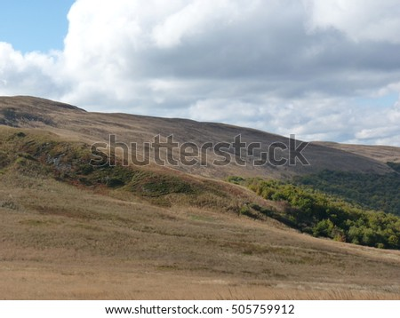Beautiful mountain landscape. Bieszczady